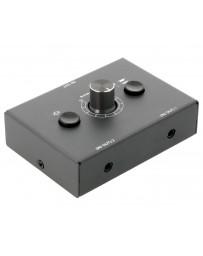Selector Audio 2 canales, entrada o salida + control volumen