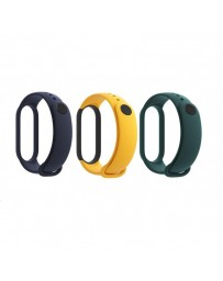 Pack 3 Correas Xiaomi Azul/Amarillo/Verde para Mi Band 5