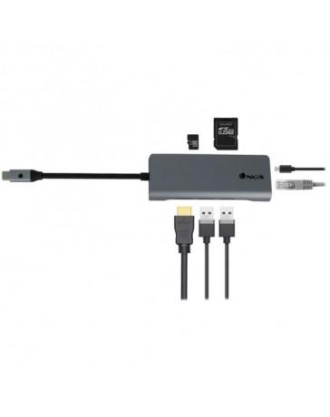 Adaptador USB-C NGS Wonderdock7 4K 7 en 1