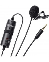 Micrófono de Condensador de Solapa para Teléfono Mini Jack Boya BY-M1