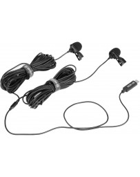 Micrófono Solapa Doble con Conector USB-C