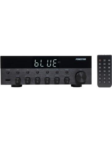 Amplificador Estéreo 15W + 15W Bluetooth / USB / FM