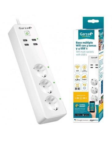 Regleta Wifi 3 Tomas y 4 USB Garza