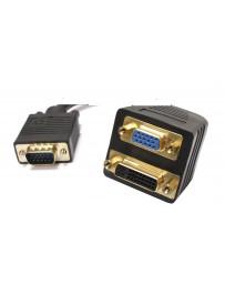 Adaptador de VGA a VGA y DVI-I