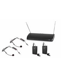 2 Micrófonos Inalámbricos de Cabeza y Solapa Fonestar