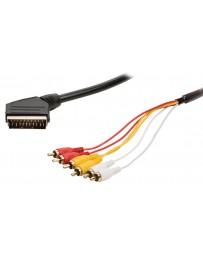 Cable Euroconector a 6RCA
