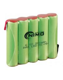 Pack de Baterías 6V/900mAh NI-MH AAA X 5