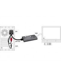 Conversor VGA a HDMI con Audio