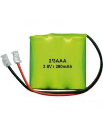 Pack de Batería 3.6V/280mAh NI-MH 2/3AAA x3