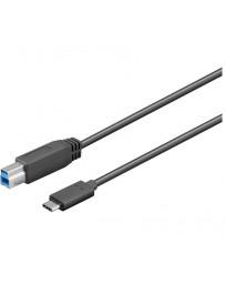 Cable USB-C 3.1 macho-macho USB-B 3.0