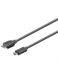 Cable USB-C 3.1 macho-macho micro USB-B 3.0