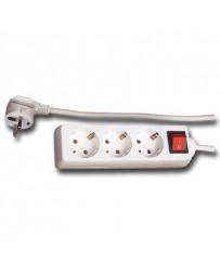 Regleta de 3 con Interruptor (3mts cable)