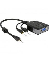 Conversor MHL 2.0 Micro USB macho a VGA hembra + USB Micro hembra + Conector Estéreo hembra