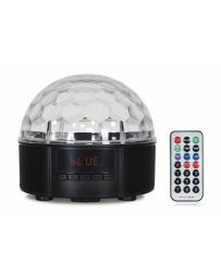 Mini Semiesfera con Reproductor USB/MicroSD/FM/BT y Efectos LED