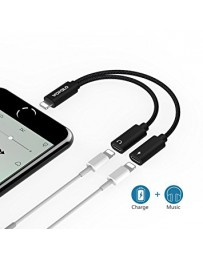 Adaptador de Audio + Carga Lightning