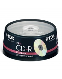 Tarrina CD x25 TDK