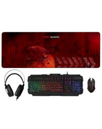 Pack Mars Gaming Teclado + Ratón + Auriculares + Alfombrilla XXL