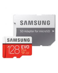 Tarjeta de Memoria Samsung MicroSDXC EVO Plus 128GB Clase 10 + Adaptador