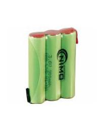 Pack de Batería Recargable 3,6V/900mAH AAAX3