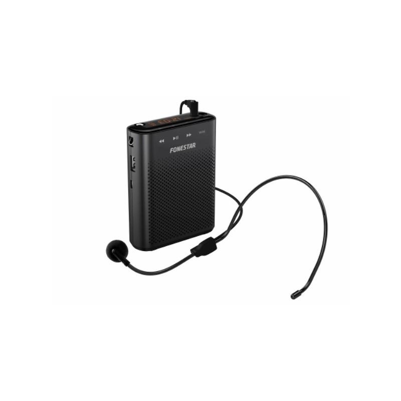 canto entrenadores Amplificador de voz port/átil con auriculares con micr/ófono capacitaci/ón gu/ía tur/í altavoz con pretina USB inal/ámbrico Amplificador de voz Amplificador Micr/ófono para profesores