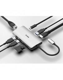 Dock 8 en 1 D-Link Lector SD/MicroSD/HDMI 4K/USB-C/USB 3.0/RJ45