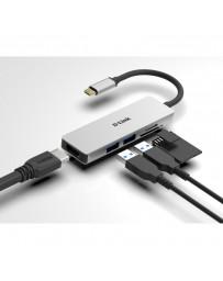 Dock 5 en 1 D-Link Lector SD/MicroSD/HDMI 4K/USB 3.0
