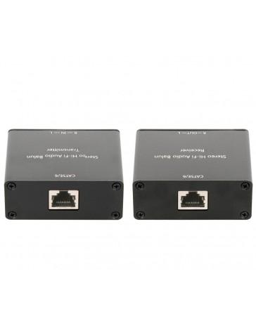 Extensor de Audio Estéreo hasta 1000mtrs. por Cable UTP CAT5E/6