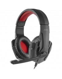 Auriculares Gaming Mars Negro/Rojo